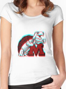UMD -retro logo Women's Fitted Scoop T-Shirt
