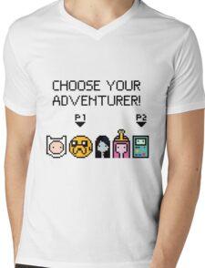 pixel Adventure Time Mens V-Neck T-Shirt