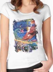 Space Harrier Women's Fitted Scoop T-Shirt