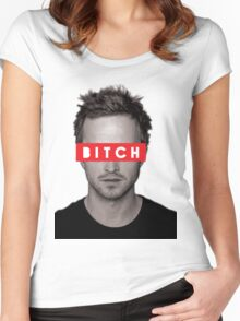 Jesse Pinkman - Bitch. Women's Fitted Scoop T-Shirt