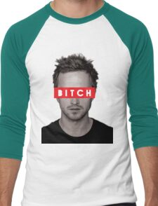 Jesse Pinkman - Bitch. Men's Baseball ¾ T-Shirt