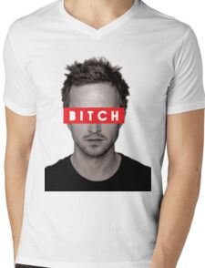 Jesse Pinkman - Bitch. Mens V-Neck T-Shirt