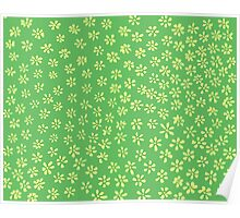 Simple Flowers   Giggling Clovers Poster