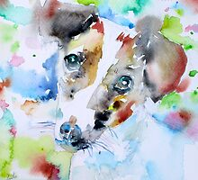 JACK RUSSELL TERRIER - watercolor portrait.3 by lautir