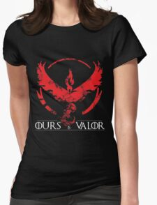 Team Valor (GoT + Pokemon GO!) Womens Fitted T-Shirt
