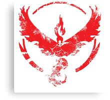 Team Valor (GoT + Pokemon GO!) Canvas Print