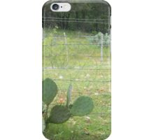 Prickly Pear with Fence iPhone Case/Skin