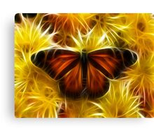 Butterfly on Flowers (soft) Canvas Print