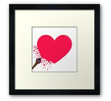 Puncture the heart Framed Print