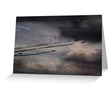 Red Arrows - Into the Storm Greeting Card