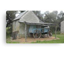 Antique Blue Wagon at Fort Martin Scott Canvas Print