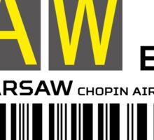Destination Warschau Airport Sticker