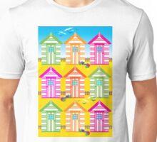 SUMMER BEACH HUTS Unisex T-Shirt
