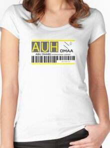 Destination Abu Dhabi Airport Women's Fitted Scoop T-Shirt