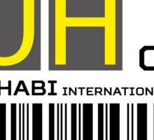 Destination Abu Dhabi Airport Sticker
