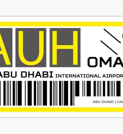 Destination Abu Dhabi Airport Sticker