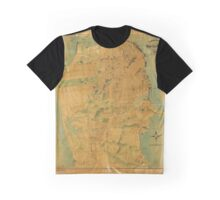 1911 Map of San Francisco Graphic T-Shirt