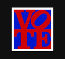 VOTE (red on blue) Unisex T-Shirt