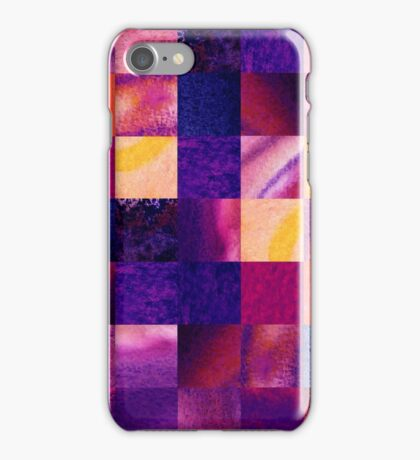 Purple Geometric Design Squares Pattern Abstract IV iPhone Case/Skin