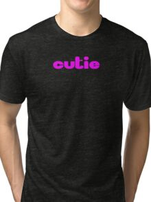 Cutie - Baby Girl - Onesie Jumpsuit - Shirt Tri-blend T-Shirt