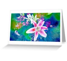 Watercolor Flower numero uno Greeting Card
