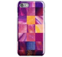 Purple Squares Pattern Abstract VI iPhone Case/Skin