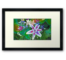 Watercolor Flower numero dos Framed Print