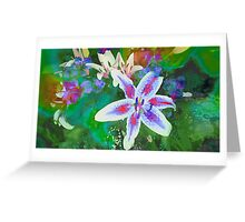 Watercolor Flower numero dos Greeting Card