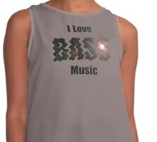 I Love Bass Music T-shirt & Sweatshirt Contrast Tank