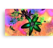 Watercolor Flower number tres Canvas Print