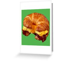 EGG CHEESE AND BACON (CROISSANT) Greeting Card