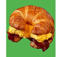 EGG CHEESE AND BACON (CROISSANT) Photographic Print