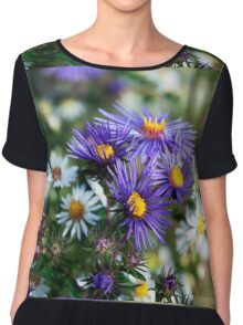 Daisies, White and Coloured. Chiffon Top