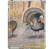Turkeys in Autumn  iPad Case/Skin