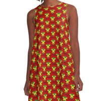 I Love Jamaica - Jamaican Flag T-Shirt A-Line Dress