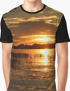 Maumee River Sunset Graphic T-Shirt