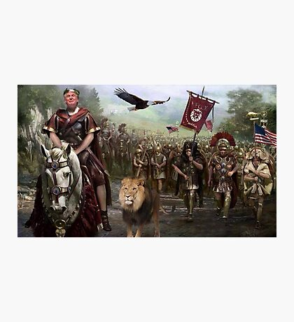 President Donald Trump and his Legion Save America! Photographic Print