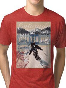 aspen skiing Tri-blend T-Shirt