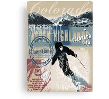 aspen skiing Canvas Print