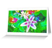 Watercolor Flower numero quatro Greeting Card