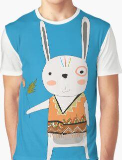 Cartoon Animals Tribal Bunny Rabbit Graphic T-Shirt