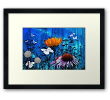 Land Of White Butterflies Framed Print