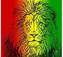 Rasta Lion numero uno Photographic Print