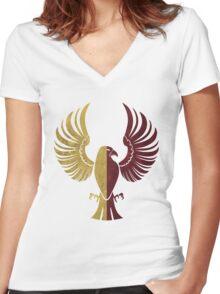 Ravendor Women's Fitted V-Neck T-Shirt