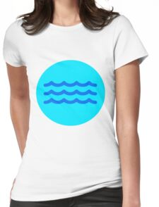 Gentle Waves  Womens Fitted T-Shirt