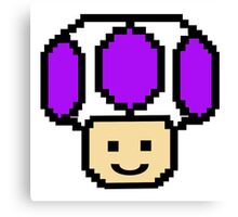 Pixel Purple Toad Canvas Print