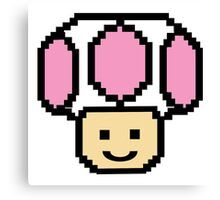 Pixel Pink Toad Canvas Print