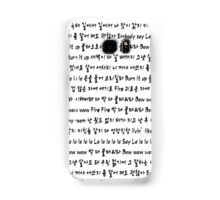 FIRE - Hangul Lyrics Samsung Galaxy Case/Skin