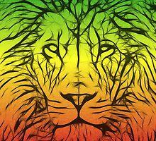 Rasta Lion numero dos by eltdesigns