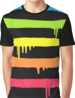 Trendy Cool Graffiti Tag Lines Graphic T-Shirt